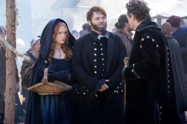 Il predicatore Cotton Mather e la strega Anne Hale in compagnia del Magistrato Hathorne