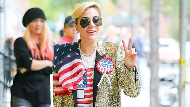 Lady Gaga prima del voto