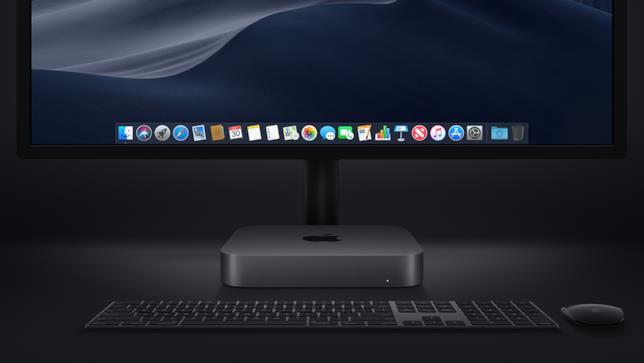 Immagine stampa del nuovo Mac mini in Grigio Siderel di Apple