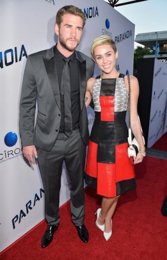 Miley Cyrus e il fidanzato Liam Hemsworth