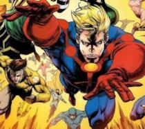 Un primo piano de Gli Eterni tra le pagine dei fumetti Marvel Comics