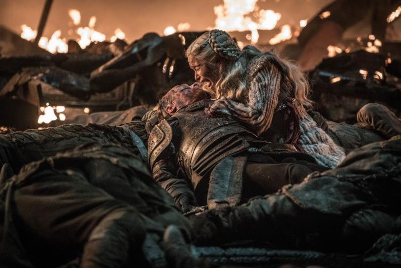 Iain Glen ed Emilia Clarke in Game of Thrones 8x03