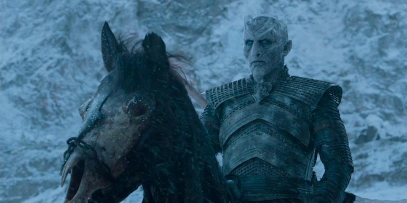 Il Re della Notte, a capo dell'esercito che sta attaccando Grande Inverno