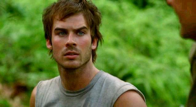 Boone in una scena di Lost
