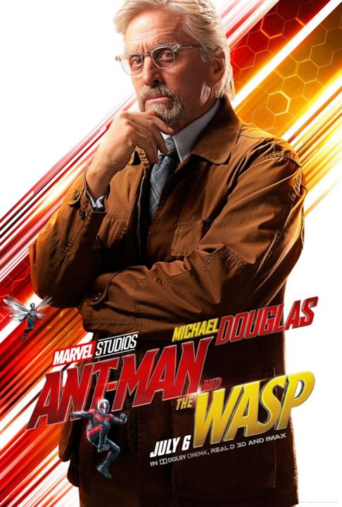 Michael Douglas nel character poster di Ant-Man & The Wasp