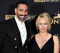 Pamela Anderson e Adil Rami fotografati durante i Trofei UNFP del calcio del 2019