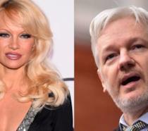 Pamela Anderson e Julian Assange