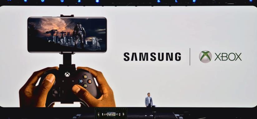 Il momento dell'annuncio della partnership tra Samsung e Xbox all'evento Unpacked 2020