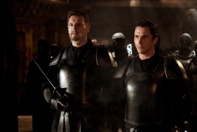 Mezzibusti di Liam Neeson e Christian Bale