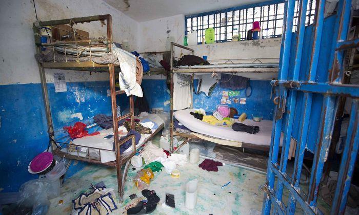 Una cella della prigione civile di Arcahaie ad Haiti