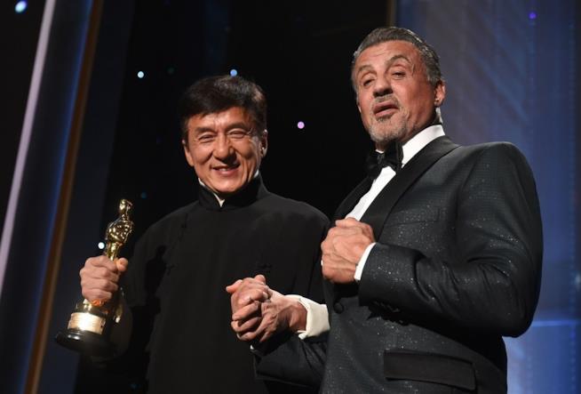 Chan e Stallone alla cerimonia degli Oscar