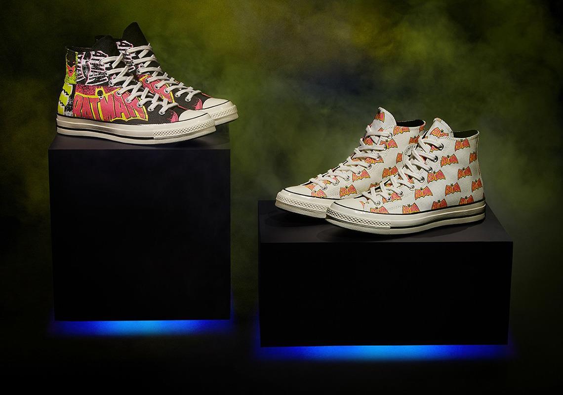 Due delle scarpe della collezione Converse x Batman
