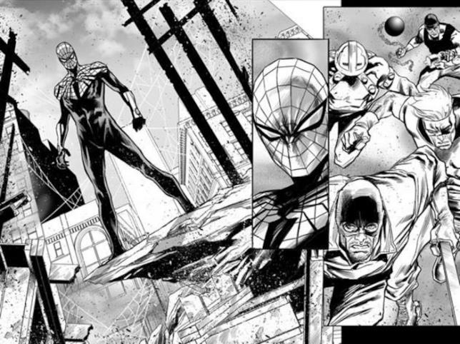Una tavola di Superior Spider-Man Team-Up realizzata da Marco Checchetto