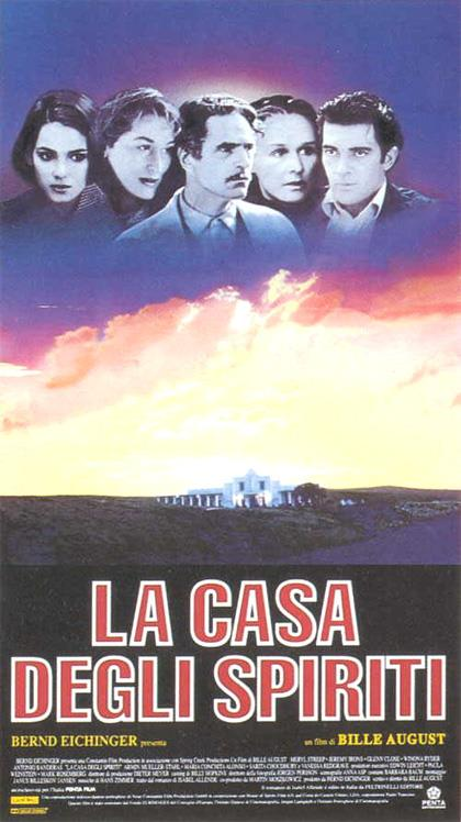 Il poster italiano de La casa degli spiriti del 1993