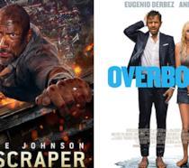 I poster di Skyscraper e Overboard