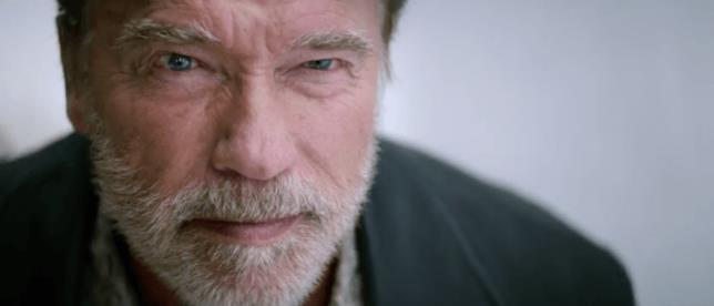 Arnold Schwarzenegger in primo piano