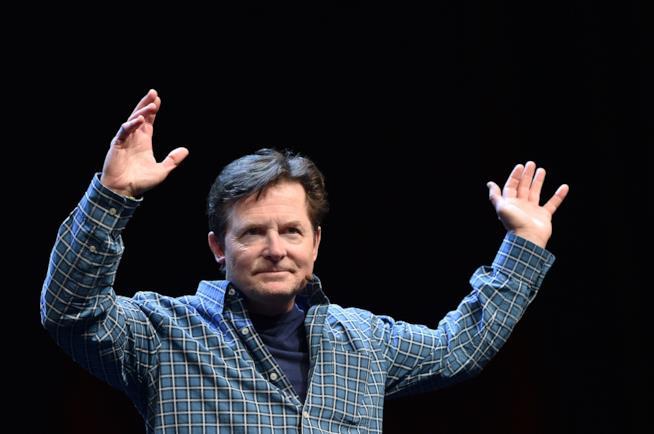 Primo piano di Michael J. Fox