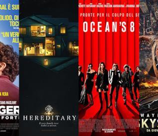 I poster di Stronger - Io sono più forte, Hereditary, Ocean's8, Skyscraper