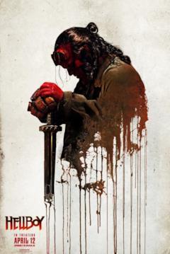 Hellboy in stile vernice nel poster