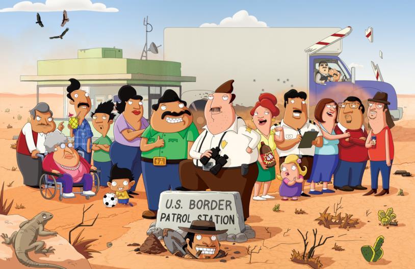 Il cast di Bordertown