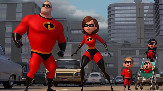 La famiglia Parr de Gli Incredibili 2