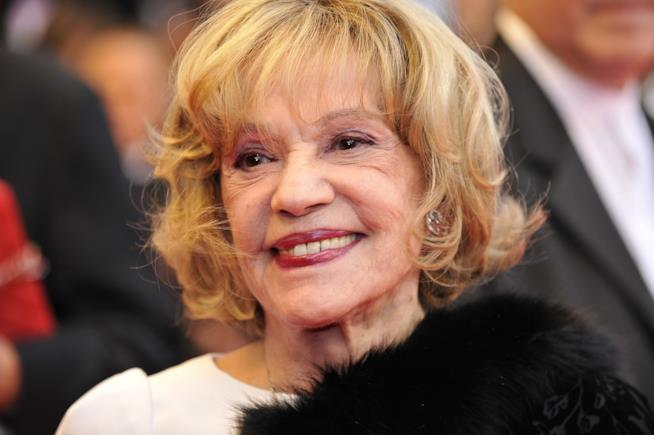 Jeanne Moreau, in una delle sue ultime apparizioni in pubblico