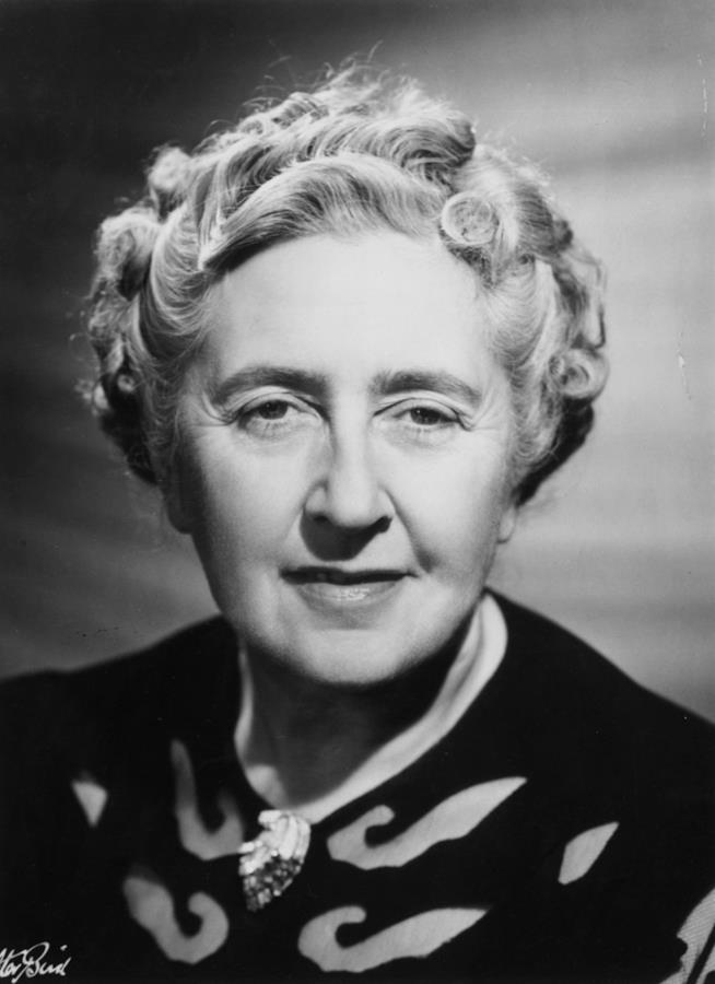 Agatha Christie in primo piano