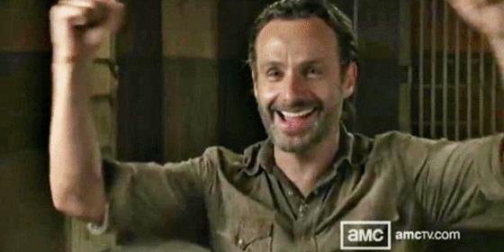 Rick esulta per aver trovato l'amore