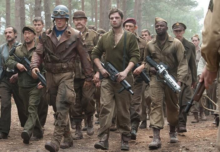 Una scena di Captain America: il primo vendicatore in cui appare anche Jim Morita