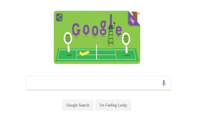 Il Doodle dedicato a Wimbledon