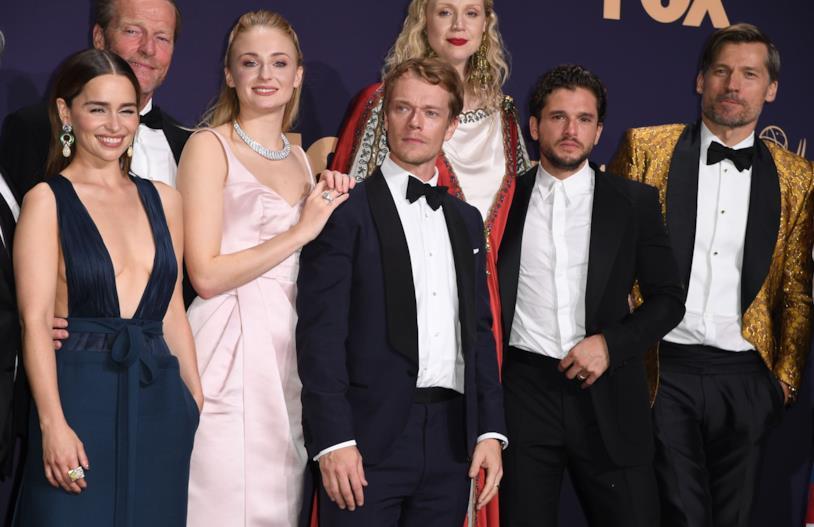 Nicolaj Coster-Waldau con il resto del cast di GoT