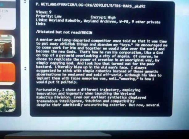 Il collegamento tra la Weyland e Eldon Tyrell in Prometheus