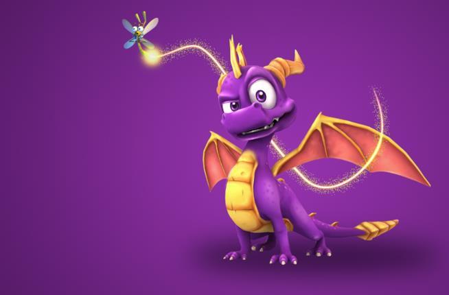 Un primo piano del draghetto viola Spyro