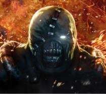 Primo piano di Nemesis, nemico di Resident Evil 3