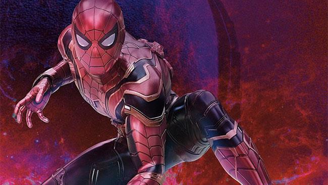 Spider-Man con la sua nuova armatura in Avengers: Infinity War