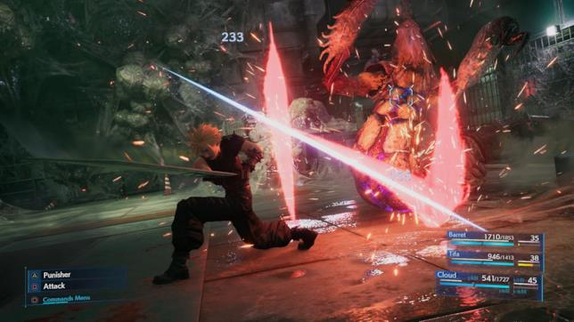 Il gameplay di Final Fantasy VII Remake su PS4