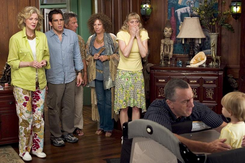 Robert De Niro, Ben Stiller, Dustin Hoffman, Barbra Streisand, Blythe Danner e Teri Polo