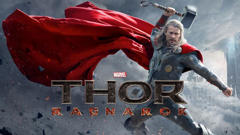 Thor in una concept art della saga