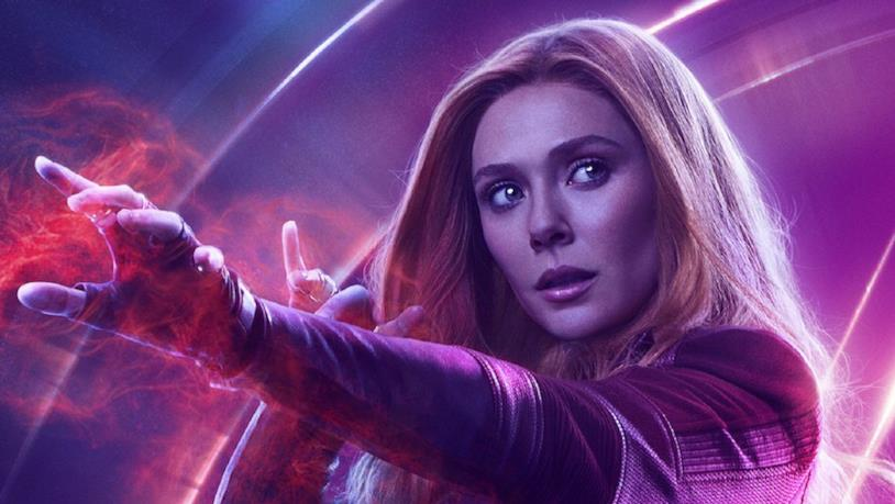 Scarlet Witch in un poster promozionale di Infinity War