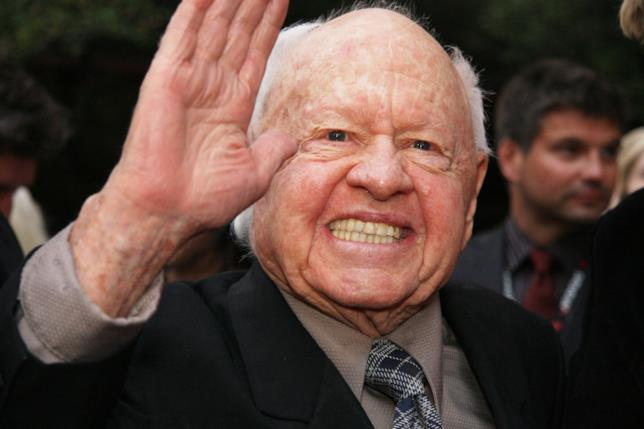 L'attore candidato all'Oscar Mickey Rooney