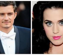 Primo piano di Orlando Bloom e Katy Perry
