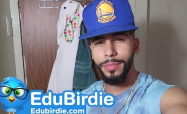 Adam Saleh tra gli YouTuber che promuovevano i servizi di EduBirdie
