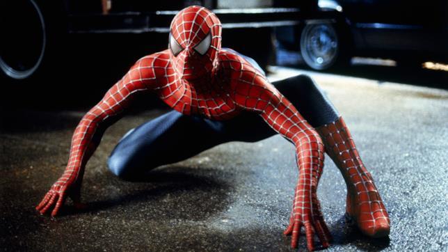 Foto dal set di Spider-Man del 2002, diretto da Sam Raimi