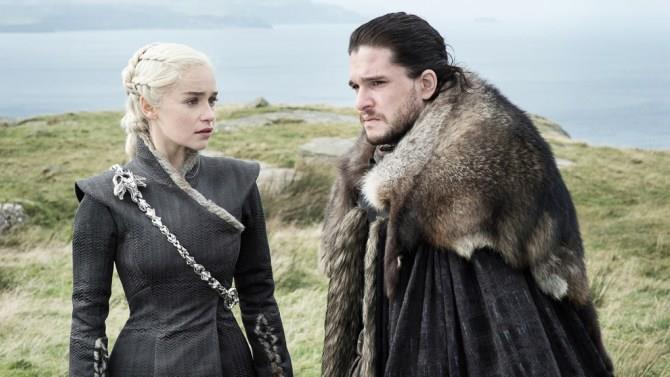 Daenerys e Jon Snow nella settima stagione di Game of Thrones