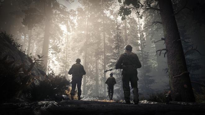 Soldati in esplorazione in Call of Duty: WWII