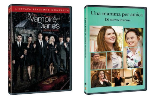 Le edizioni Home Video italiane di The Vampire Diaries 8 e Una mamma per amica - Di nuovo insieme