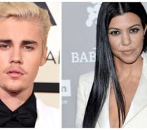 Primo piano di Justin Bieber e Kourtney Kardashian