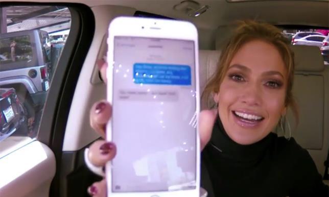 Jennifer Lopez mostra il messaggio di risposta di DiCaprio