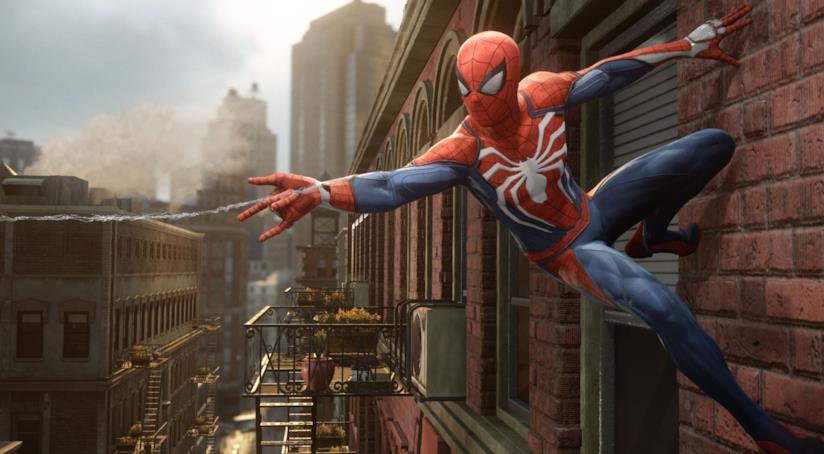 Spider-Man in azione nel videogioco per PS4