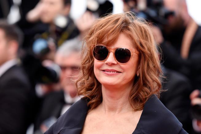 Primo piano di Susan Sarandon a Cannes